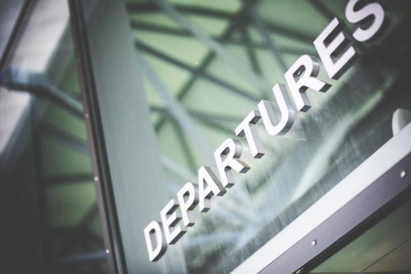 空港の出発ゲート(departure)
