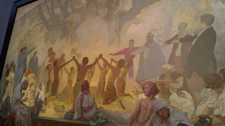 スラヴ叙事詩「スラヴ菩薩樹の下でおこなわれるオムラジナ会の誓い」