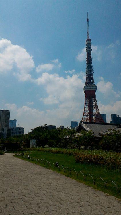 芝公園と増上寺と東京タワー
