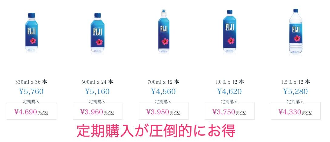 フィジーウォーターの商品ラインナップと価格一覧