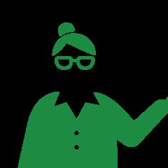眼鏡のキャリアウーマンのピクトグラム