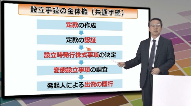 スタディングビジ法講座の講義画面2
