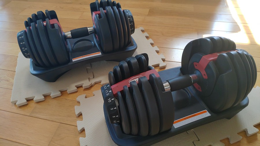 Motionsアジャスタブルダンベル24kg2個