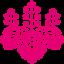ピンクの桐のアイコン